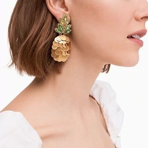 NWT Kate Spade Pineapple Statement Earrings